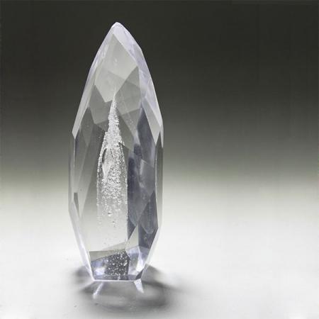 Erinnerungskristall einzigartige Kristallform Immer & Ewig