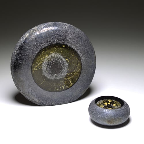 Erinnerungskristall Sonne aus Asche und Gold Immer & Ewig