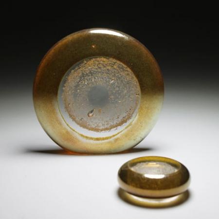 Erinnerungskristall goldener Horizont aus Asche verstorbener Mensch