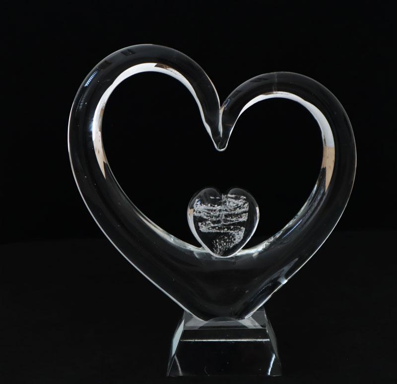 Erinnerungskristall Herz im Herz